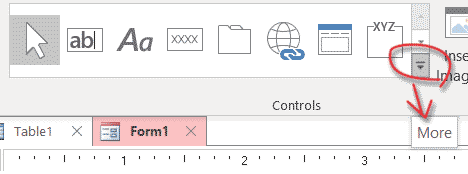 Adding the Charting ActiveX requires design view