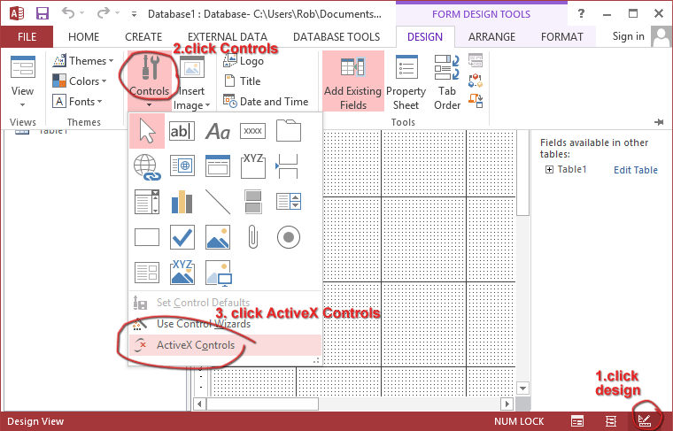 Adding the Gigasoft Charting OCX to MS Access
