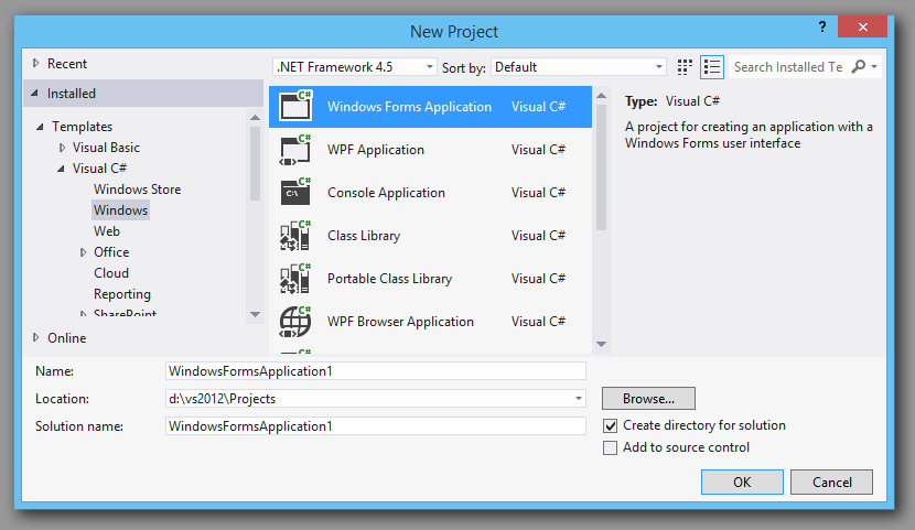 C Charting Winforms Example In Visual Studio