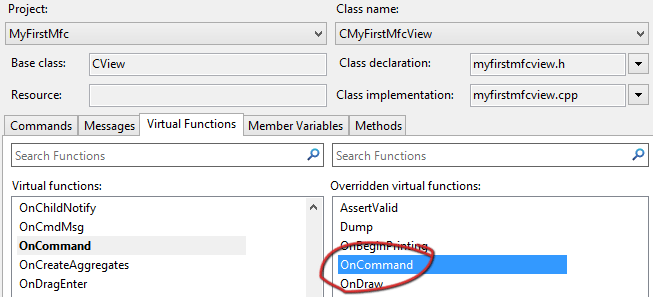MFC Chart adding virtual functions VS2019