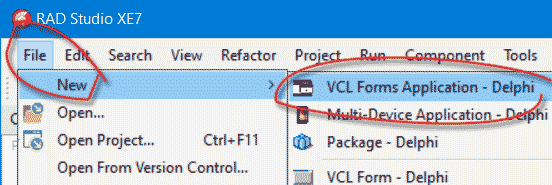 VCL charting new application